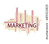marketing tag cloud  vector | Shutterstock .eps vector #685321825