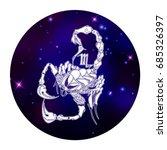 scorpio zodiac sign  horoscope...   Shutterstock .eps vector #685326397