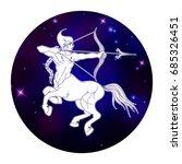 sagittarius zodiac sign ... | Shutterstock .eps vector #685326451