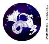 capricorn zodiac sign ... | Shutterstock .eps vector #685326517