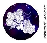 aquarius zodiac sign  horoscope ...   Shutterstock .eps vector #685326529