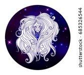 virgo zodiac sign  horoscope... | Shutterstock .eps vector #685326544
