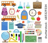 set of different school... | Shutterstock .eps vector #685329334