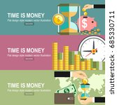 time is money concept. flat
