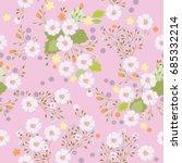 cute pattern in small flowers.... | Shutterstock .eps vector #685332214