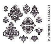 set vintage  pattern vintage | Shutterstock .eps vector #685332715