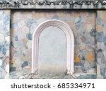 stone pattern fence wall | Shutterstock . vector #685334971
