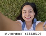 happy young asian woman smiling ...   Shutterstock . vector #685335109