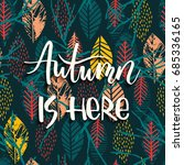 lettering design with abstract... | Shutterstock .eps vector #685336165