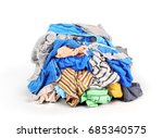 pile of clothes isolated on... | Shutterstock . vector #685340575