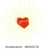 two hearts man's and female in... | Shutterstock .eps vector #68534176