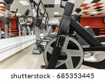 gym interior with equipment | Shutterstock . vector #685353445