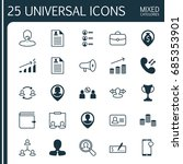 hr icons set. collection of... | Shutterstock .eps vector #685353901
