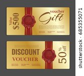 gift voucher template. can be... | Shutterstock .eps vector #685355071