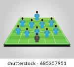football  soccer  starting line ... | Shutterstock .eps vector #685357951