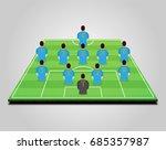 football  soccer  starting line ... | Shutterstock .eps vector #685357987