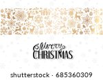 christmas greeting card with... | Shutterstock .eps vector #685360309