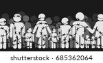 migrants and refugees are... | Shutterstock .eps vector #685362064