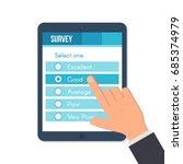 online survey form on the... | Shutterstock .eps vector #685374979