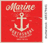 vintage nautical graphics and... | Shutterstock .eps vector #685379641