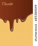realistic liquid chocolate with ... | Shutterstock .eps vector #685380049