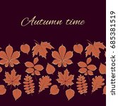 autumn vector illustration.... | Shutterstock .eps vector #685381519