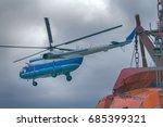 ship based helicopter ... | Shutterstock . vector #685399321