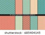 set of ten vector seamless... | Shutterstock .eps vector #685404145