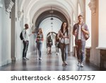 multiracial students are... | Shutterstock . vector #685407757