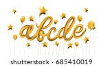 font set with letters a  b  c ... | Shutterstock .eps vector #685410019