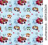 sugar skull pattern from day of ... | Shutterstock .eps vector #685410634