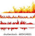 fire banner set  fame... | Shutterstock .eps vector #685414831