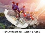 sailing yacht race  regatta.... | Shutterstock . vector #685417351