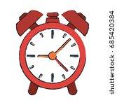 alarm clock vector illustration | Shutterstock .eps vector #685420384