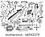 arrows collection - stock vector