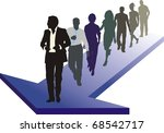 a group of young people is...   Shutterstock .eps vector #68542717