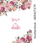 watercolor flowers set.... | Shutterstock . vector #685427179