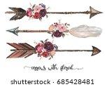 watercolor ethnic boho set of... | Shutterstock . vector #685428481