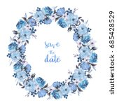 watercolor floral illustration... | Shutterstock . vector #685428529