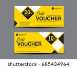 yellow gift voucher template... | Shutterstock .eps vector #685434964