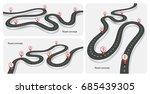 winding 3d road infographic... | Shutterstock .eps vector #685439305