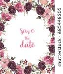 watercolor flowers set.... | Shutterstock . vector #685448305