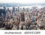 aerial view of the east side of ... | Shutterstock . vector #685451389