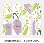 hand drawn creative tags.... | Shutterstock .eps vector #685452097