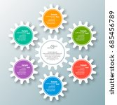 vector abstract 3d paper... | Shutterstock .eps vector #685456789
