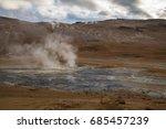 smoking geothermal vent  myvatn ...