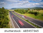 motion blurred cars on a...   Shutterstock . vector #685457365