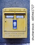 Yellow French Post Box In...