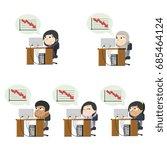 businesswoman worried thinking...   Shutterstock . vector #685464124