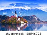 Bled With Lake  Island  Castle...